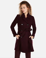 BRAND NEW WITH TAGS EXPRESS Belted Wool Blend Trench Coat Small / Large / XL