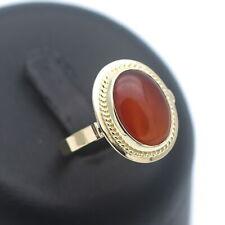 Karneol Ring 585 Gold 14 Kt Gelbgold Edelstein Wert 430,-