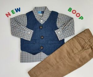 Toddler Kids Baby Boys Clothes 2T & 4T NWT Goodlad Blue vest Suit Jacket
