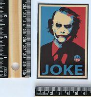 Joker Serious Face Heath Ledger Dark Knight joke decal vinyl sticker #2624