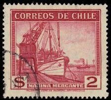 "CHILE 207 (Mi241) - Mercantile Marine Vessels ""1939 Printing"" (pa75691)"