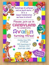 10 Candyland Girl Birthday Party Invitations 1st 2nd 3rd 4th 5th 6th 7th 8th