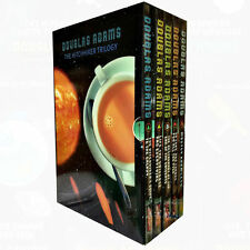 Douglas Adams Collection 5 Books Hitchhiker's Guide to the Galaxy Series Set NEW