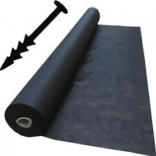 2m x 20m Weed Control Landscape Fabric Membrane Mulch Ground Cover + 20Pegs