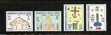 New Hebrides (French) Complete MNH Set #292-295 Christmas Stamps