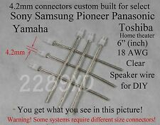 6 4.2mm speaker connectors made for select sony/samsung/Panasonic Home theater