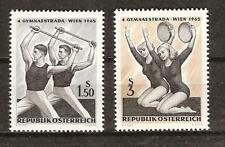 Austria # 750-1 Mnh Sports Gymnastics Athletic Meet