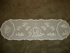 White Christmas Silent Night design ( Retired )Table Runner 54 x 14