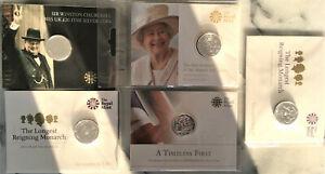 Royal Mint Silver £20 Commemorative Coin x 5 SET 2016 2015 2013