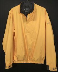 Mens FJ FootJoy Dry Joy 1/2 Zip Rain Wind Jacket Size Large Excellent Condition