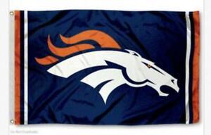 Denver Broncos 3x5 Flag Man Cave Flags Football New USA Bronco 3 x 5 Banner