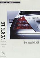 2064MB Mercedes Vorteile CL-Klasse Positionierung Prospekt 1999 4/99 brochure