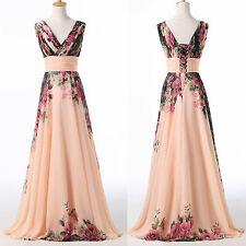 Formal V-Neck Ball Evening Prom Bridesmaid Cocktail Party Bridemaid Maxi Dress
