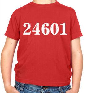 24601 Prison Number Kids T-Shirt - Theatre - Film