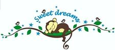 Monkey Sweet Dreams Wall Decal Sticker Mural Childs Bedroom Nursery Playroom