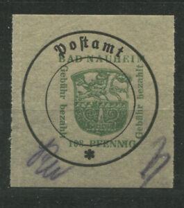Bad Nauheim 7 I x mit doppeltem farblosem Durchstich postfrisch BPP-gp.(B11996c)