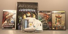 Metroid Prime 1 & 2 Echoes (GameCube) 3 Corruption (Wii) with Controller & Guide
