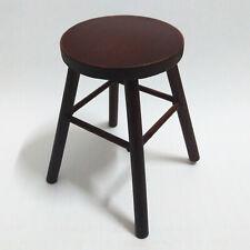 1/6 scale handmade mini furniture wood stool fashion royalty doll figure chair