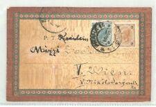 More details for austria vintage wooden postcard bohemia 1902 music rare {samwells-covers}cg121