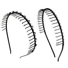 2PCS  Comb Headband Metal Wire Teeth with Crystal Rhinestones & Plain  Assorted