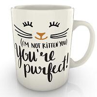 I'm Not Kitten You You're Purfect - Mug - Valentines Birthday Anniversary gift