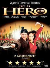 Hero DVD, Jet Li, Tony Leung Chiu Wai, Maggie Cheung, Ziyi Zhang, Donnie Yen, Yi