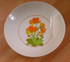 Thomas (Germany) 'ORANGE FLOWER' CEREAL BOWL, retro shabby chic vintage