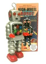 HIGH WHEEL ROBOT RARE COLOR VERSION LE MECHANICAL WIND UP TIN ROBOT MINT