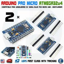 2pcs Arduino Pro Micro ATmega32U4 5V 16MHz Replace ATmega328 Pro Mini Leonardo