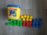 Fisher Price Stack 'n Build Blocks Bucket Baby Toy 3 To 36 Months Vintage
