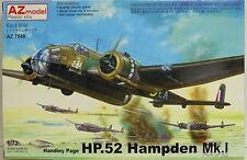 Handley Page HP.52 Hampden Mk.I , AZmodel , 1:72 , Plastic model kit , NEW