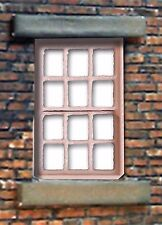 LC07 - Laser cut 6 Pane Sash Windows O scale pk of 6 Smart Models
