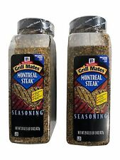 2 Pack McCormick Grill Mates Montreal Steak Seasoning 29oz Each Net 3lb 10oz