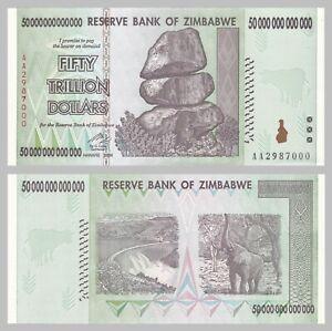 Simbabwe / Zimbabwe 50 Trillion Dollars 2008 p90 unz.