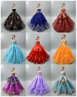 Lot 20 items 10 Princes Dress/Wedding Clothes/Gown 10 shoes For 11.5in.Doll S55