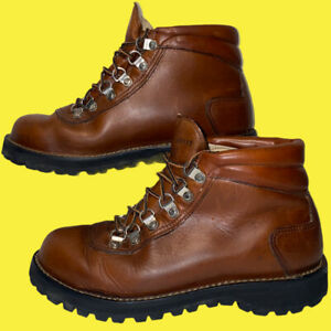 VTG danner made USA hiking  mountain brown leather 8.5 boots 3127