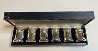 Vintage F.B. Rogers Silver Co. Mini Salt & Pepper Shakers Original Box Set Of 6