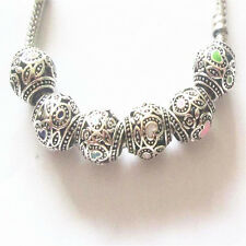 10PCS mixed European charm bead DIY fit 925 Silver Necklace Bracelet K263