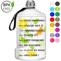 1 Gallon Big Drink Water Bottle Jug Gourd For Travel Sports Fitness Gym Exercise