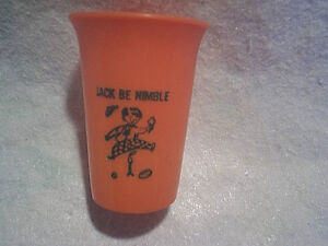 JACK BE NIMBLE MINI PLASTIC CHILDRENS CUP,nursery rhyme,candlestick,football,usa