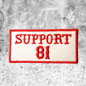 "Hells Angels Support 81 Aufnäher Patch ""SUPPORT 81"" Big Red Machine North End"