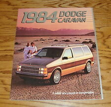 Original 1984 Dodge Caravan Sales Brochure 84