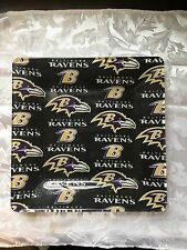 Baltimore Ravens Football glass serving plate for candy, cheese and crackers.