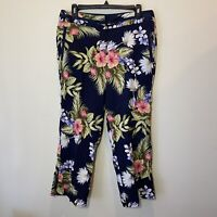 Tommy Bahama Woman's Size 10 Pants Cropped Multi Color Tropical Floral Print