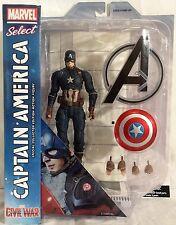 "Marvel Select Captain America Civil War 7"" Diamond Toys Action Figure"