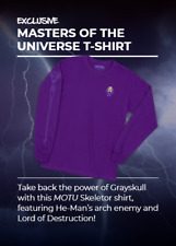 Loot Crate Skeletor Masters Of the Universe NEW Long Sleeve Shirt  Men's Large