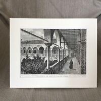 1890 Stampa Palazzo Presso Costantinopoli Algeria Architettura Antico 19th