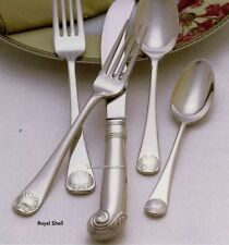 ROYAL SHELL Williamsburg Reed Barton 60pc Set Service 12 Flatware + 12 Steaks