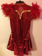 A Wish Come True Gorgeous Red And Gold Dance Costume Large Adult
