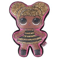 OFFICIAL LOL SURPRISE QUEEN BEE CUSHION PLUSH SHAPED DOLL FILLED BN
